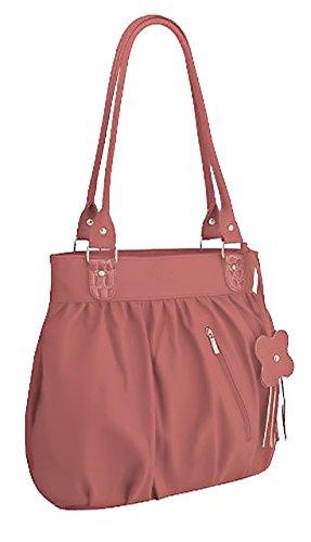 EyeCatchBags - Galaxia Damen Handtasche aus Kunstleder Salmon Pink