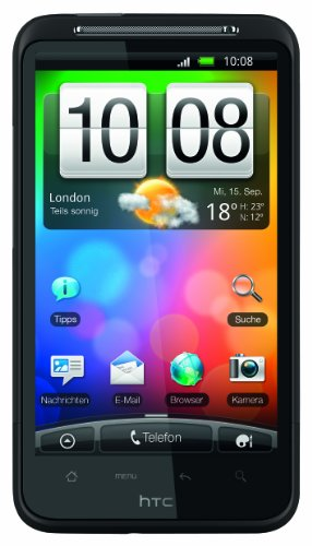 HTC Desire HD Smartphone (10,9 cm (4.3 Zoll) Touchscreen, 8MP Kamera, Android OS 2.2, HSPA) Maduro Brown