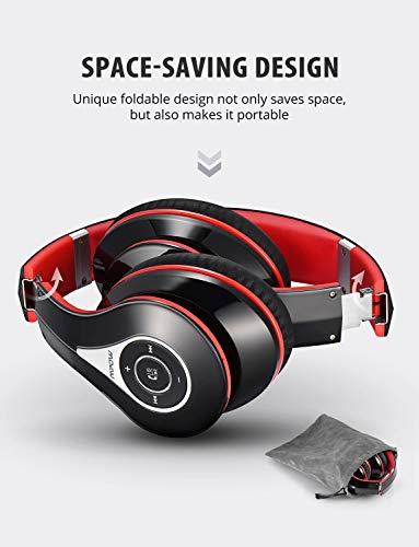 Mpow Bluetooth Kopfhörer over Ear, [Bis zu 20 Std] Hi-Fi Stereo mit Dual 40mm Treiber, CVC 6.0 Noise Canceling für Integriertem Mikrofon Freisprechen - 5