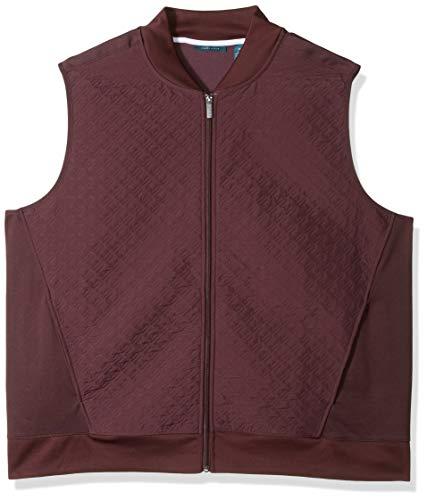 Perry Ellis Herren Big & Tall Quilted Zip-Front Vest Baumwolle, leicht, Jacke, Port/Dfk, 2X Hoch Quilted Zip-front-jacke