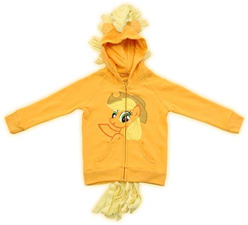 My Little Pony Hoodie Applejack Girls Orange Costume Sweatshirt (6X) (My Little Pony Twilight Hoodie Mädchen)