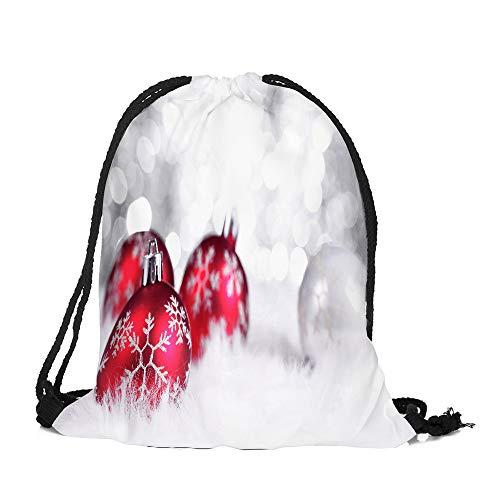 Frohe Weihnachten Weihnachten Drawstring Bag, Malloom Frohe Weihnachten Süßigkeiten Tasche Satchel Rucksack Bundle Pocket Drawstring Aufbewahrungstasche