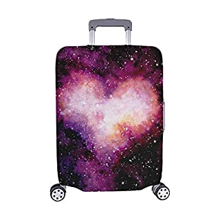 Dark Sky Stars Single Heart Spandex Trolley Case Travel Luggage Protector Suitcase Cover 28.5 X 20.5 Inch