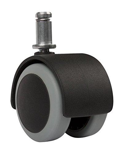 Slipstick CB6805,1cm Boden Schutz Gummi Bürostuhl Caster Wheels (Set von 5) Standard stem Size-Schwarz/Grau