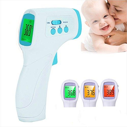 Professionelle Digital Thermometer LEMONDA Digitales Infrarot Fieberthermometer Stirnthermometer Fieberthermometer Infrarot Medizinisch Nicht kontaktiert Baby Thermometer Schnelles Ablesung Körpertemperatur für Baby, Kinder, Erwachsene, Haustiere und Oberfläche