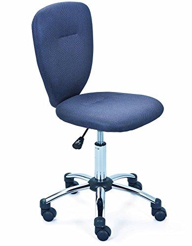 PEGANE Chaise de Bureau pour Enfant en métal, Coloris Gris - Dim : L 40 x P 48 x H 86-98 cm