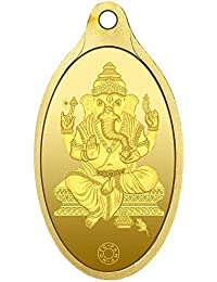Muthoot Gold Bullion Corporation 24k (999.9) Yellow Ganesha Pendant - 2.5 Gm