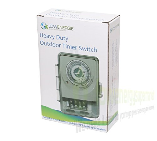 Heavy Duty Lighting timer contactor switch, HPS CFL, hydroponic light control, 30A rated Mechanical