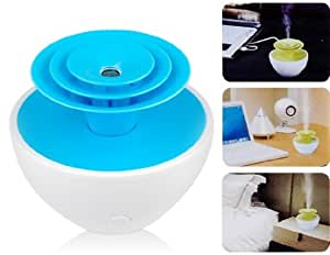 HAPTIME Ultrasonic Flower Mini USB Humidifier (Blue)