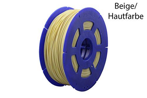 3D Drucker 1kg Filament Rolle PLA 175mm schwarz / rot / gelb / transparent / bordeaux / Dunkelbraun / Hellbraun / Camouflage / Grün top Qualität B-Ware (Beige)