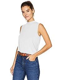 Marca Amazon - Daily Ritual Jersey Sleeveless Boxy Mock-Neck Shirt Mujer