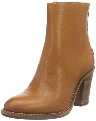 Shabbies Amsterdam - Shabbies 13cm Zipbooty 9cm Heel Leather Sole Lean, Stivali bassi con imbottitura leggera Donna Marrone (Braun (curry))