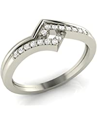 Animas Jewels .925 Sterling Silver And Diamond Wedding Ring For Womens Jewelry