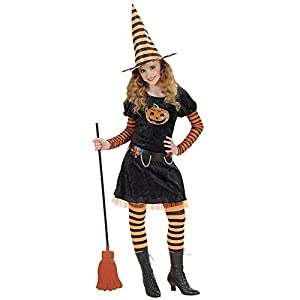 WIDMANN wdm58646?Disfraz para niños Pumpkin Witch (128cm/5?7años), multicolor, XXS