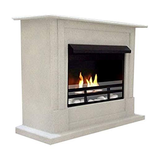Etanol-y-Gel-Chimenea-Firegel-Emily-Deluxe-Royal-Granito-gris-incluido-ajustable-quemador-de-acero-inoxidable-cristal-de-seguridad