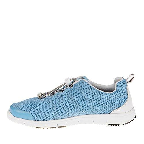 Propet Travel Walker II Elite Large Synthétique Chaussure de Marche Light Blue-White