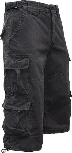 JET LAG Cargo Shorts 3/4 Hose Modell 007 S, Farbe:Schwarz;Größe:XXL