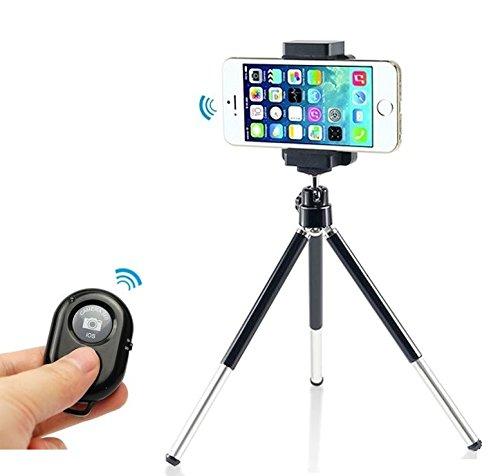 Bluetooth otturatore della fotocamera telecomando+ Treppiede Supporto culla Supporti per iPhone 6/iPhone 6 plus