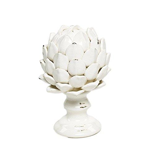 Blume Artischocke, Keramik cerusé