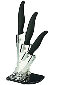 3 Piece Ceramic Knives with Knife Block