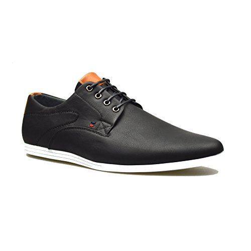 Mens New Casual Black Leather Smart Formal Lace Up Shoes 10 UK...