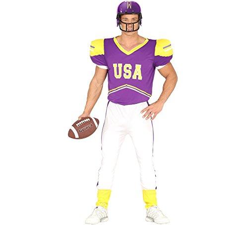 Football Damen Kostüm Spieler - Quarterback Football Spieler - Kostüm für Herren Karneval Fasching Sport Gr. M-L, Größe:L
