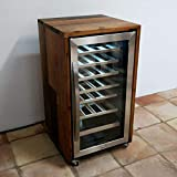 exklusiver Weinkühlschrank, von Hand aus den Fassdauben von alten Weinfässern gefertigt, rollbar und sehr leise, 26 Flaschen, absolutes Einzelstück