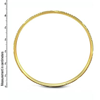 Candere By Kalyan Jewellers Contemporary Collection 22k Yellow Gold Sneha Bangle