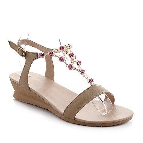 Adee , Damen Sandalen Aprikose