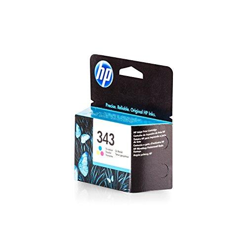Original Tinte passend für HP PhotoSmart C 4180 HP 343 , 343C , 343COLOR , NO343 , NO343C , NO343COLOR , Nr 343 C8766EE , C8766EEABB , C8766EEABD - Premium Drucker-Patrone - Cyan, Magenta, Gelb - 260 Seiten - 7 ml (Hp Deskjet 6840 Drucker)