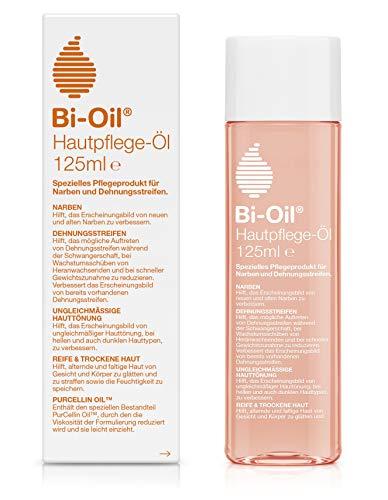 Bi-Oil Hautpflege-Öl, Spezielles Pflegeprodukt für Narben & Dehnungsstreifen (125 ml)