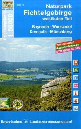 Topographische Sonderkarten Bayern. Sonderblattschnitte auf der Grundlage der amtlichen topographischen Karten, meist grössere Kartenformate mit ... Radwanderwege, UTM-Gitter für GPS (UK 50-12)