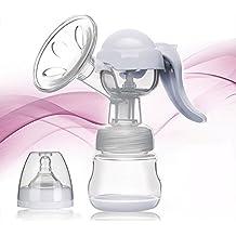 W-top Sacaleches eléctrico automática inteligente portátil sin BPA, 150ml Extractor de leche con chupete y cojín de masaje,suave y cómodo