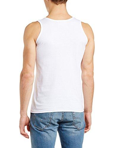 WALLS Herren Unterhemd, Einfarbig Weiß - Weiß