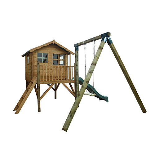 5x5-honeypot-poppy-wooden-playhouse-with-tower-slide-swing-by-waltons