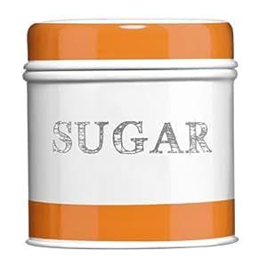 Arancio Boîte à sucre en acier galvanisé avec Bande de tissu Orange