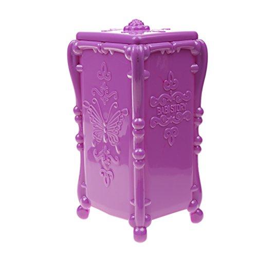 Boîte à Bijoux Cas Organisateur de Maquillage Etui de Stockage Rangement pour Anneau Boucle d'Oreille - Violet
