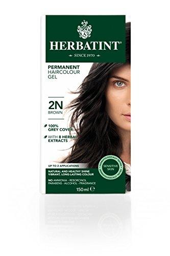 Tinta per capelli colorazione permanente senza ammoniaca naturale herbatint 135 ml n. 2 colore bruno