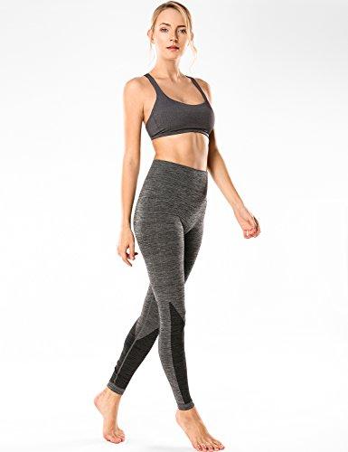 CRZ YOGA Damen Yoga Sport BH - Abnehmbare Padded,Überkreuzte Träger Charcoal Heather