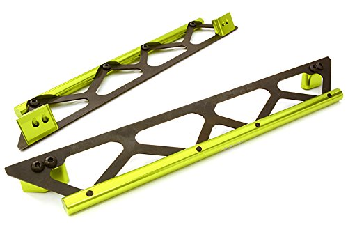 INTEGY RC Model Hop-ups C26834GREEN Machined Side Protection Nerf Bars for Traxxas X-Maxx 4X4