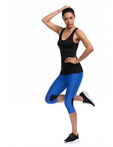 Sports Vest Jimmy Design women fitted sport vest tank top nero - nero
