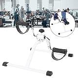 AYNEFY Mini-Heimtrainer,Mini Bike Heimtrainer Einstellbarer Widerstand Beintrainer Heimtrainer Minifahrrad Bewegungstrainer Fitnessgerät für Zuhause Büro (50 * 38 * 42 cm)