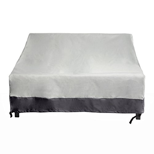 Liebesschaukel Lounge Cover-Outdoor Patio-Möbel von wiederverwendbar Revolution, Polyester, Grey w/ Dark Grey Trim, Einheitsgröße Ort Trim