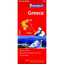 Greece Map (Michelin National Map)