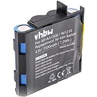 vhbw NiMH batería 1500mAh 4.8V para tecnología médica como estimulador Muscular Compex Edge US,