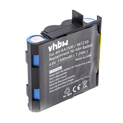 vhbw NiMH batería 1500mAh (4.8V) para tecnología médica como estimulador Muscular Compex Fit 1.0, Fit 3.0, Full Fitness, FullFitness, Mi, Mi-Fitness
