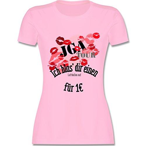 JGA Junggesellinnenabschied - JGA Tour - Ich blas dir einen Luftballon auf - M - Rosa - L191 - Damen T-Shirt Rundhals