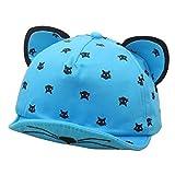 Tangbasi bambine estate orecchie di gatto cappello da baseball Cap per esterni blu Blue taglia unica