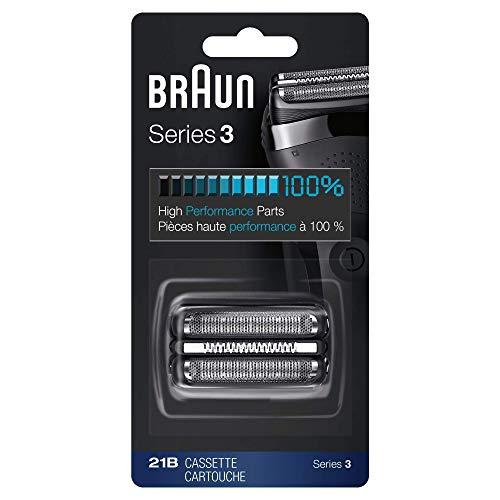 Braun Rasierer Ersatzteil 21B (Kompatibel mit Series 3 (300s, 301s, 310s)) schwarz