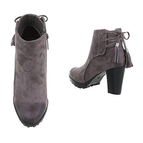 Ital-design - Bottes De Femmes Grau
